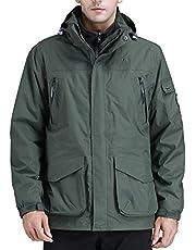 CAMEL CROWN Men's Waterproof Ski Jacket 3-in-1 Winter Coats Windbreaker Hooded Fleece Inner for Snow Rain Hiking Outdoor