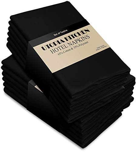 Utopia Kitchen Cloth Napkins (18 inches x 18 inches) - 12 Pack Soft and Comfortable Cotton Dinner Napkins ()