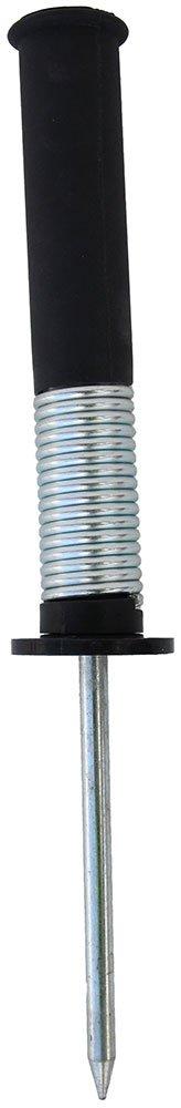 Hülse mit Federgelenk und Metallspitze für Stangen Ø 25 mm schwarz Farbe