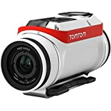 TomTom Bandit Action Camera 16 MP, 1080p/60 fps, 720p/120 fps, GPS, Sensori Integrati, Wi-Fi, Impermeabile, Bianco/Rosso