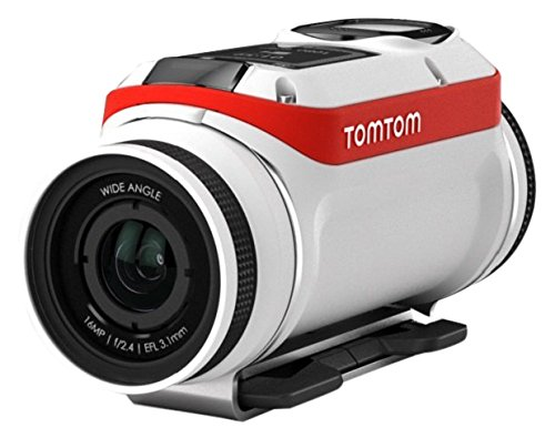 TomTom Bandit 4K Body Mounted Action Cam, Adventure Pack, White (Tomtom Mounted)