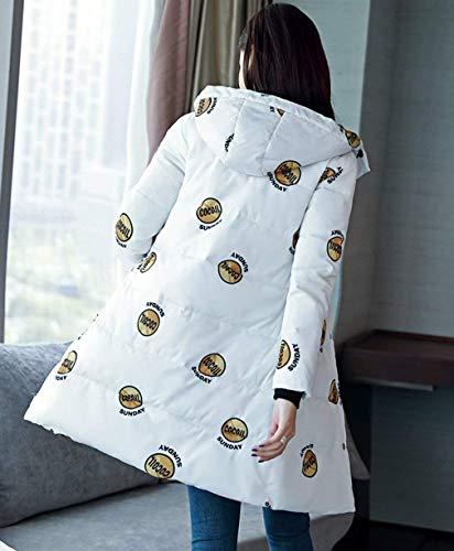 De Avant Hiver Manteau Chic Femme Mode Poches Longues Chaud Serrage Mod avec Cordon Parka Doudoune 18Pgqndw1