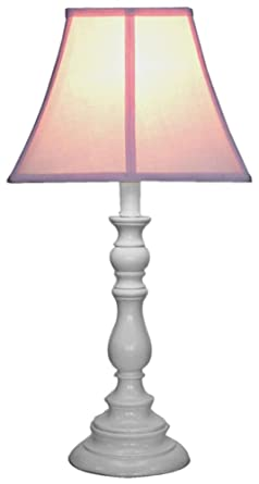 Pink Shade With White Candlestick Base Table Lamp Amazon Com