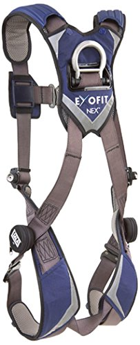 Hybrid D-ring (DBI IND 1113010 ExoFit NEX Vest Style Safety Harness, XL, Blue/Grey)