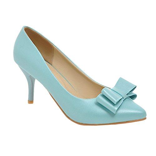 MissSaSa Damen high-heel Pointed Toe Schleife Pumps mit Stiletto