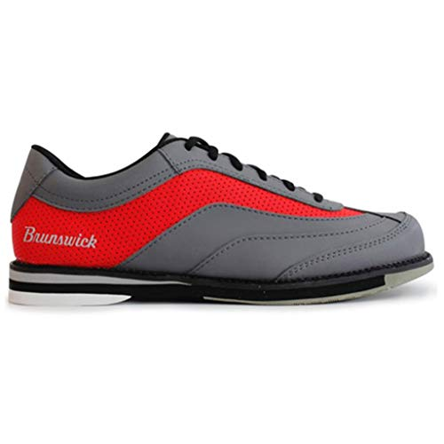 Brunswick Bowling Products Mens Rampage Bowling Shoes Right Hand- M US, Grey/Red, - Shoes Sole Rubber Bowling