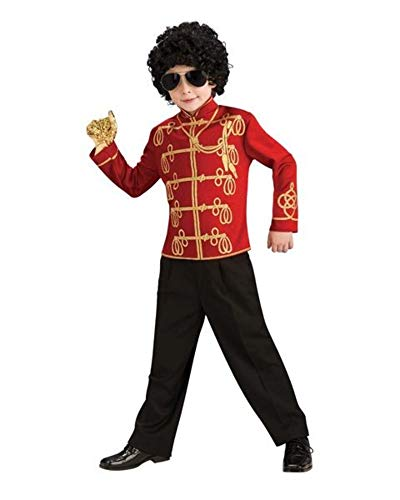 Michael Jackson Child's Value Military Jacket Costume Accessory, Large, Red -