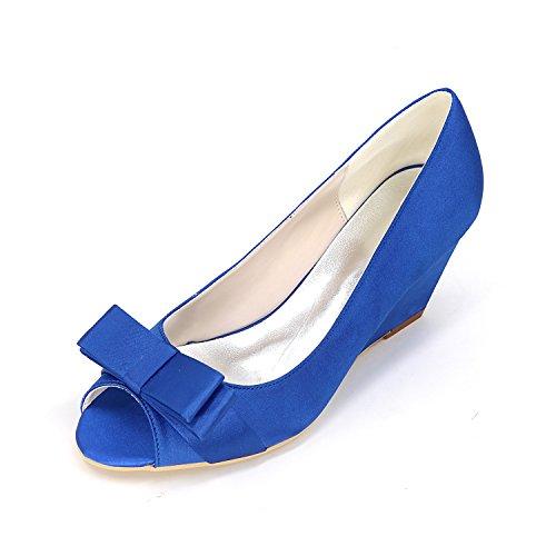 Sandale Hochwertige Heels's Hang Qingchunhuangtang Elegante Bow Groß Wedding Damen High Dress Schuhe Schuhe Mund Fisch ACxSwx0q