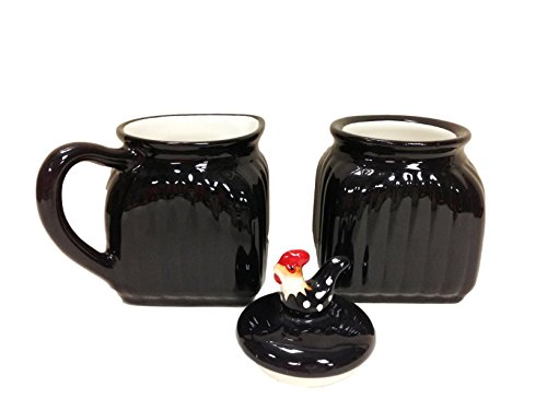 ROOSTER W/DOTS, 2-PIECES, CREAMER & SUGAR,83732 BY ACK