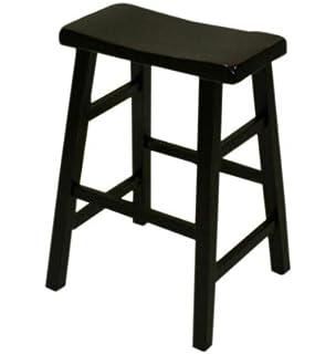 amazon com ehemco 29 heavy duty saddle seat bar stool in antique