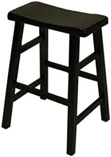eHemco 24  Saddle stool in black (black) (24  H x 17.5  sc 1 st  Amazon.com & Amazon.com: eHemco 24