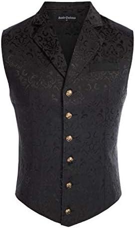 Vintage Men Vest Waistcoat Gothic Pirate Medieval Costume Vest  3 Colors
