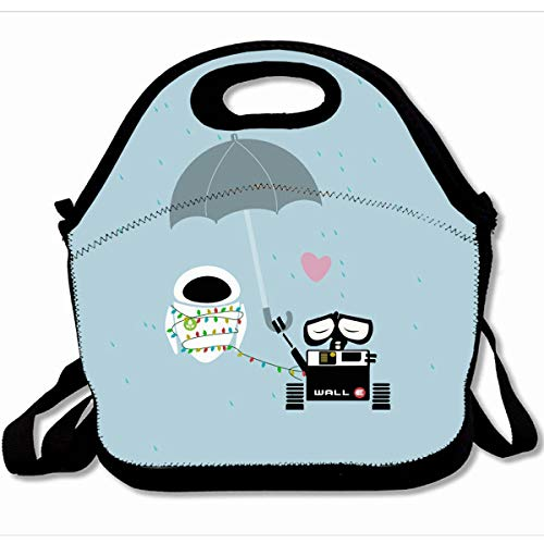 Ahawoso Reusable Insulated Lunch Tote Bag True Love Walle And Eve 10X11 Zippered Neoprene School Picnic Gourmet Lunchbox