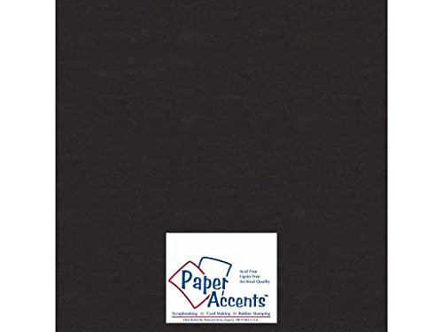 "Accent Design Paper Accents ADP1212-5.127CB 12 x 12"" Heavy 50 Point Black Chipboard"