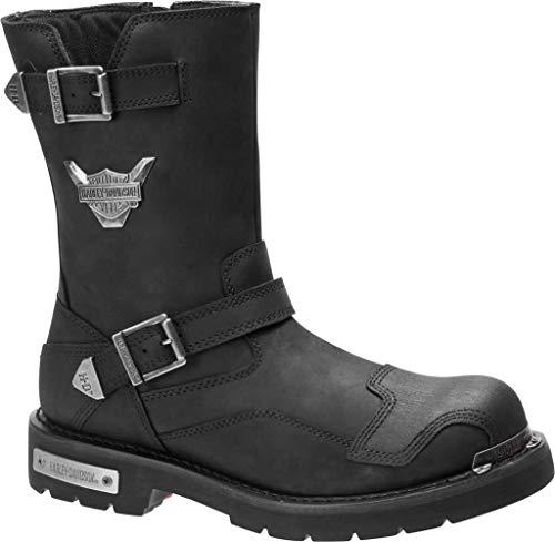 HARLEY-DAVIDSON Men's Stroman Motorcycle Boot, Black, 08.0 M US