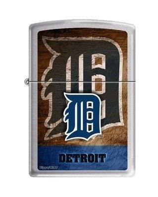 Zippo Lighter MLB Detroit Tigers Brushed Chrome