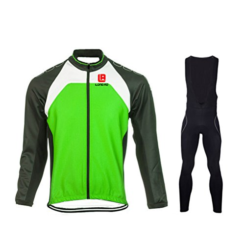 Cyber Monday FHSom Men's Cycling Long Sleeve Zip With 4D-Padded Breathable Cool Quick Dry Jersey Suit Cloth Winter (Colombia National Costume For Men)