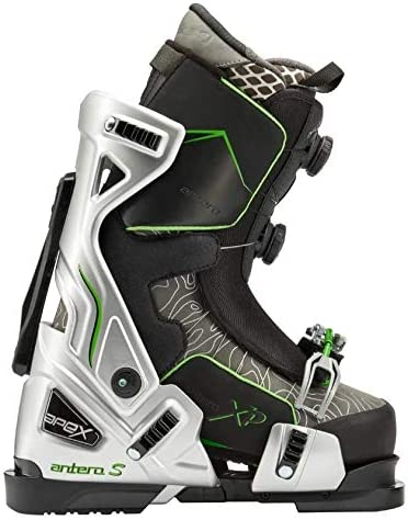Apex Ski Boots Antero-S Topo Edition - Big Mountain Ski Boots (Women's Sizes 24-27) Walkable Ski Boot System with Open-Chassis Frame for Advanced & Expert Skiers