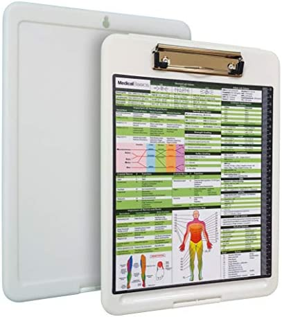 Premium PT Storage Clipboard with Quick Medical Reference Sheet - Clipboard for Physical Therapists, Occupational Therapists