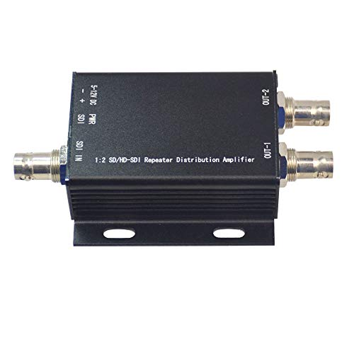 - Guantai Premium HD-SDI Signal Amplifier SDI Repeater, 3G/HD/SD-SDI Video Splitter Extender (1 in and 2 Out)