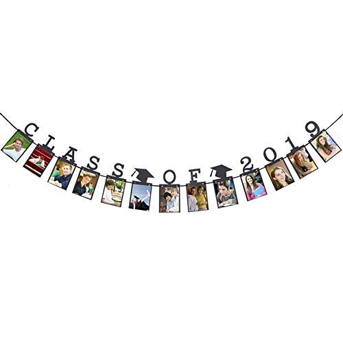 Hatcher lee Class of 2019 Congrats Photo Banner-Perfect Graduation Decorations Party Supplies for Grad Party Bunting Black]()