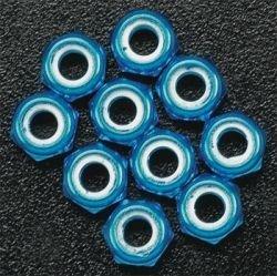 Duratrax Aluminum Locknut M3 Blue (10) by DuraTrax (Duratrax Locknut)