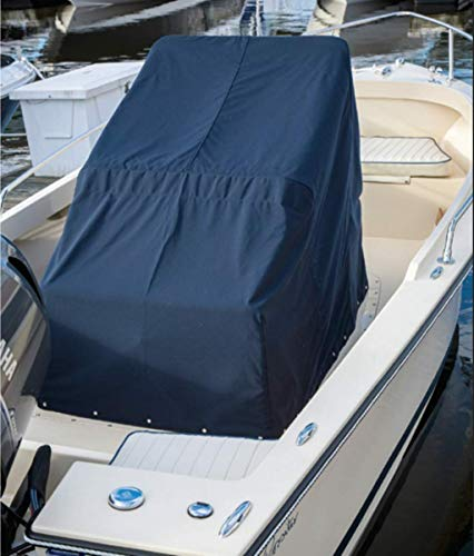 Heavy Duty Boat Center Console Cover, 600D Waterproof Rainproof Upgraded Marine Grade Polyester Canvas (M)
