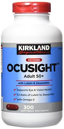 Kirkland Eye Vitamin OcuSight Adult 50+ with Lutein & Zeaxanthin, 300 -