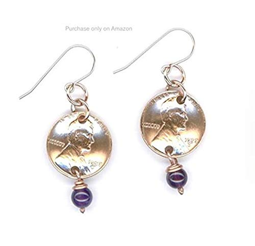 Amazon Penny Earrings 60th Birthday Gifts For Women February Amethyst Birthstone Beads 1959 Ideas Handmade