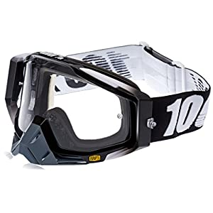 100% unisex-adult Goggle (Black/Clear,One Size) (RACECRAFT RC ABYSS Black Clear Lens)