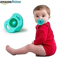 Chupón silicón bebe y niños higiénico anti suciedad (Azul)