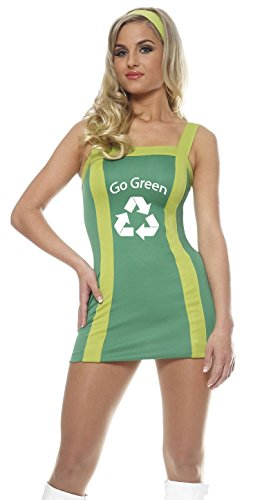 [Franco Green Eco Recycle Cheerleader Outfit Adult Costume M] (Adult Cheerleader Outfits)