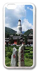 Wutai Mountain in Shanxi Custom iphone 6 plus 5.5inch Case Cover TPU Transparent
