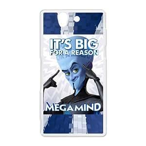 3D film Metro Man, Minion, Megamind, Roxanne,Tighten Sony Xperia Z Hard Plastic White Shell Case Cover (HD image)