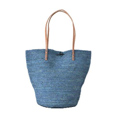 """(ルボヤージュエンパニエ)Levoyageenpanieかごトートバッグ""""ILANA""""oneg1(blue)am145-one-g1"""