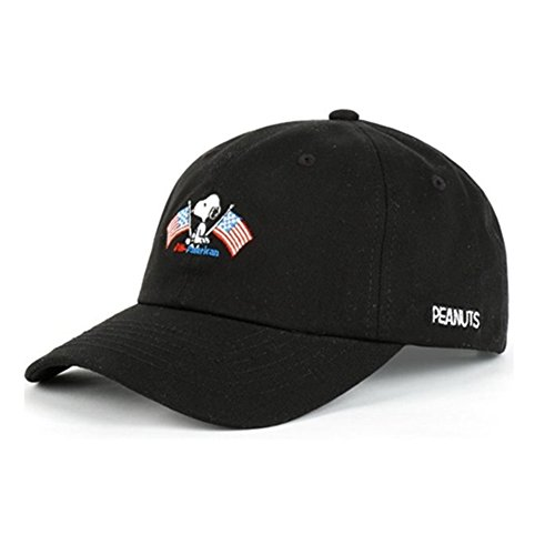 Peanuts Authentic Baseball Trucker Golf Sports Hats snoopy flag BALL CAPs Black