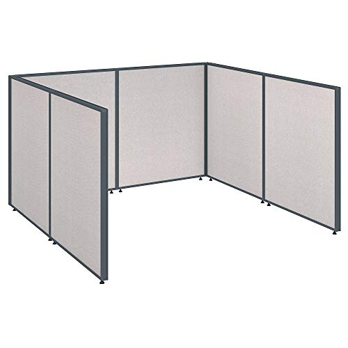 Bush Business Furniture Propanels Single Open Cubicle Office - Light Gray 76W X 74D X 43H Ergonomichome Bush Business Furniture Scroll Down for Product - Propanel Cubicle