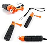DURAGADGET Limited Edition, Waterproof Hand Grip Pole / Monopod with Wrist Strap in Black & Orange - Compatible with the SJCAM SJ5000 | SJ5000x Elite | SJ5000+ | SJ4000 | SJ4000+ | SJ X1000 | SJ M10+ Action Cameras