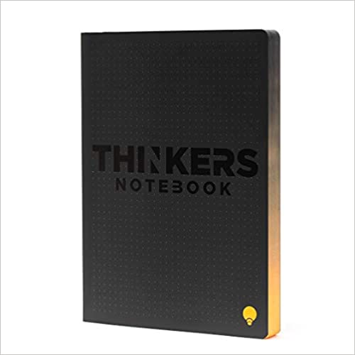 256 numbered pages 120 gsm paper THINKERS Smart Notebook black cover 6.5 x 8.67 5mm dot grid Executive