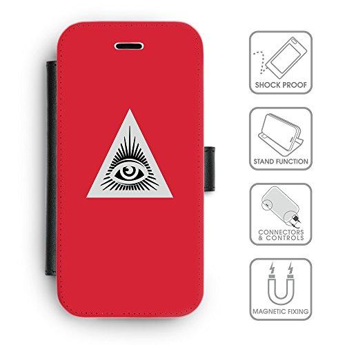 GoGoMobile Coque de Protection TPU Silicone Case pour // Q09050630 Œil Providence 15 Rose // Apple iPhone 5 5S 5G SE