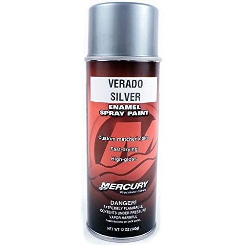 OEM Mercury Marine Verado Silver Spray Can Touch Up Paint 12 oz