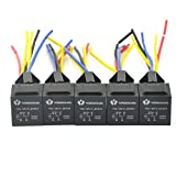 QUWEI 5pcs 30/40 AMP Relay Harness Spdt 12V Bosch Style
