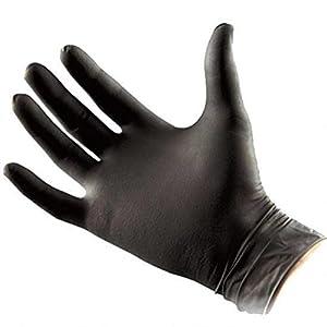 Nitrile Surgical Black Gloves Medium (Pack of...