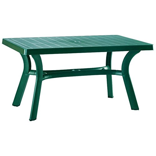 Atlin Designs 55″ Resin Patio Dining Table in Green, Commercial Grade