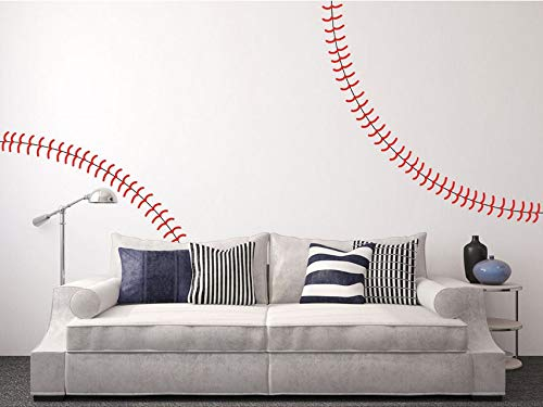 (Dalxsh Giant Full Wall Baseball Stitch Vinyl Decal,Nursery Kindergarten Wall Stickers,Home)