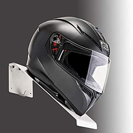 Black BESTUNT Helmet Hanger for Motorcycle Holder Shelf Rack Storage Fixation Mount on Wall