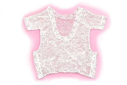 Newborn Baby Girl Soft Lace Romper, Besutana Infant Lace Floral Bodysuit Photo Props
