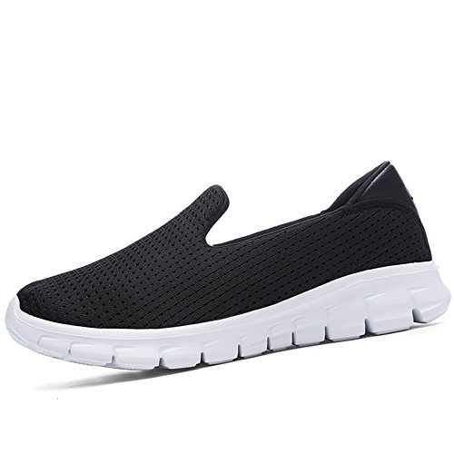 Trainers JACKSHIBO Sneaker Lightweight Low Sports Women's Casual Shoes Top Black Mesh Comfort vxv0OfrwqW