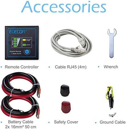 Edecoa Voltage Converter 12 V 230 V Pure Sinus 3500 W Inverter Lcd Voltage Converter 3500 W Pure Sine Wave And Lcd Screen Auto