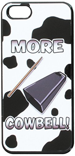 - Graphics and More Cowbell Musical Instrument Music Marching Band Cow Print Snap-On Hard Protective Case for Apple iPhone 5/5s - Non-Retail Packaging - Black